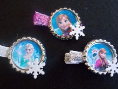 6 Disney Frozen  Clips Princess Anna , Elsa, Olaf and the hole Gang Inspired Party Favor Clips from Disneys Frozen on Etsy, $12.00