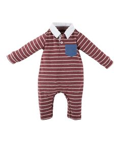 Red Stripe Romper - Infant
