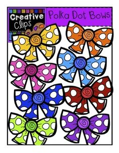 Free Clipart Bows! Snatch them up along with over 75 other clipart freebies in my store! Creative Clips Digital Clipart