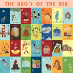 The ABC's of the USA - Alphabet & Numbers Murals That Stick | Oopsy daisy