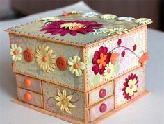 chest of drawers from matchboxes - crafts ideas - crafts for kids