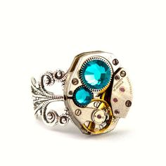 Steampunk Ring  Beautiful Clockwork Jewelry by LondonParticulars