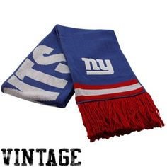 Mitchell & Ness New York Giants Royal Blue-Red Vintage NFL Scarf