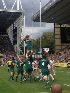 Leicester Tigers at Welford Road. Leicester Tigers, Rugby Men, Son Love, Football Players, Basketball Court, England, War, Memories
