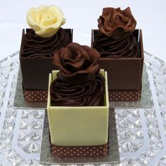 Mini Chocolate Ganache Cakes for weddings and special occasions