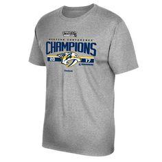 Reebok Youth Nashville Predators 2017 NHL Western Conference Champs Locker Room T-shirt (Grey, Size X Large) - Pro Licensed Product, Nhl Apparel Ev...
