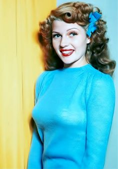 I Love Rita Hayworth in this photo! Such a classic beauty