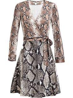 Amelia Python Printed Silk Jersey Wrap Dress