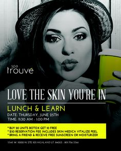 Skin Medica Lunch and Learn June 25th. Don't miss out!