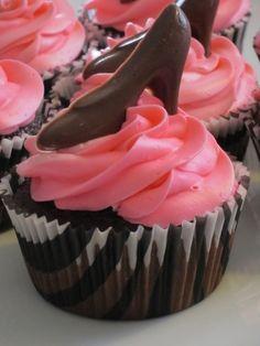 High Heel Chocolate Cupcakes