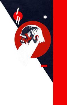 sketch for Lev Tolstoj, © Ivan Canu Illustrator, all right reserved Books, editorial, stylized, conceptual, digital, poster, portraits, painterly salzmanart.com