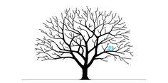Ein Hochzeitsbaum auf Leinwand ist ein persönliches Hochzeitsgeschenk. Hier findest Du eine Anleitung und kostenlose Vorlage zum Nachmachen
