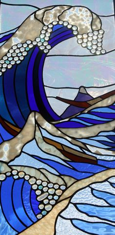 Gorgeous stained glass window wave..