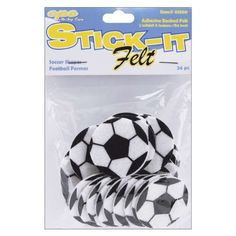 Kids' Felt Craft Kits - Stick It Felt Shapes Soccer Balls 24Pkg -- Check this awesome product by going to the link at the image.