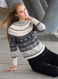 Stellar Fair Isle Jumper (332-01) - Dale Garn - kit