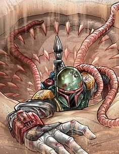 Watch the time-lapse video of this drawing here Who's your favorite Star Wars Character? Boba Fett is definitely on the top . Star Wars Fan Art, Ver Star Wars, Star Trek, Boba Fett Art, Star Wars Boba Fett, Cadeau Star Wars, Chasseur De Primes, Star Wars Bounty Hunter, Star Wars Painting
