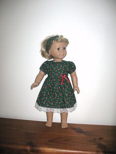 Doll Clothes for 18 Inch American Girl Dolls, Christmas Candy Cane American Girl Doll Dress