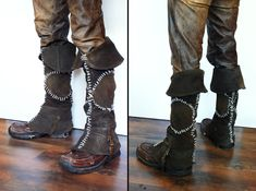 Leather gaitors (boots from The Witcher)