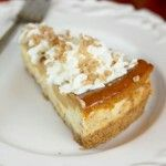 Toffee pumpkin pie cheesecake