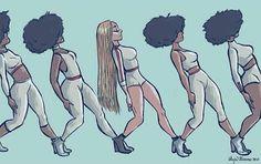 Fantasting Drawing Hairstyles For Characters Ideas. Amazing Drawing Hairstyles For Characters Ideas. Black Girl Art, Black Women Art, Black Girls, Beyonce, Art Noir, Natural Hair Art, Black Artwork, Afro Art, Magic Art