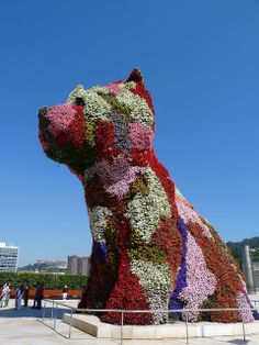"""""""Puppy"""" by Jeff Koons at the Guggenheim Museum in Bilbao, Spain"""