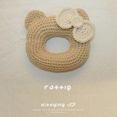 Baby Rattle Grab Toy Crochet