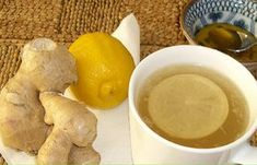 Ginger tea with lemon and honey Ginger Lemon Tea, Fresh Ginger, Honey Lemon, Sassy Water, Health Benefits Of Ginger, Tea Cafe, Container Flowers, The Cure, Healthy