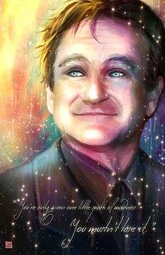 11x17 Robin Williams Tribute by Musetap