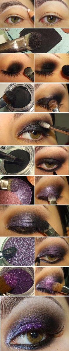 Wonderful Purple Glitter Inspired Makeup Tutorials / Best LoLus Makeup Fashion