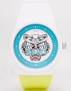 Agrandir Kenzo - Montre à tête de tigre - Blanc