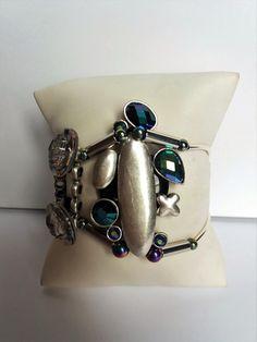 Nouveauté femme 2017 bracelet 2 rangs ,unique et fait main : Bracelet par les-creations-uniques-de-michel-nala Michel, Cuff Bracelets, Creations, Etsy, Vintage, Jewelry, Fashion, Handmade, Arm Cuffs