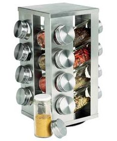 Buy 16 Jar Stainless Steel Revolving Spice Rack at Argos.co.uk - Your Online Shop for Spice racks and seasoning.