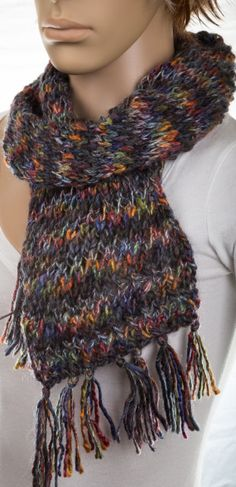 Colorful Scarf by NadiasKnits on Etsy, $30.00