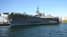 The USS Midway Aircraft Carrier Museum is located in downtown San Diego at Navy Pier.