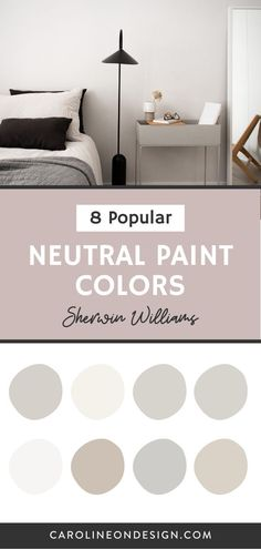 Dark paint may be the latest 'trend', but neutral walls in your home will ALWAYS be a timeless classic. If you're on the hunt for the perfect neutral, you'll find it below in my curated list of 8 popular Sherwin Williams neutral paint colors. #paintcolors #neutralpaint