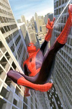 nomalez: ungoliantschilde: Alex Ross's cover art for Spider-Man: Learning to Crawl. Alex Ross, toujours au top cet artiste. Links: Alex Ross / Spider-man / comics cover / Marvel / All Comics .
