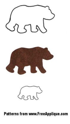Free Applique Quilt Patterns | Animal Patterns for Applique, Quilting, Crafts or Clipart