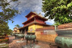 View top-quality stock photos of Building In The Imperial City Of Hue Vietnam. Find premium, high-resolution stock photography at Getty Images. Vietnam Destinations, Vietnam Holidays, Once In A Lifetime, Most Beautiful Cities, Vietnam Travel, Old City, City Photo, Old Things, Outdoor Structures