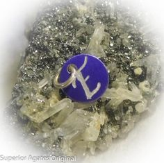 Letter E Hand Engraved Purple Personalized Small by superioragates, $4.00