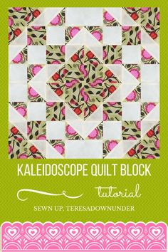 Video tutorial: Kaleidoscope quilt block - quick and easy quilting