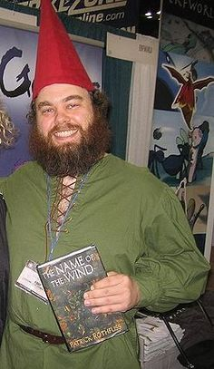 Patrick Rothfuss, a new favorite author for me, right up there with J.K. Rowling, George RR Martin, Neil Gaiman & Stephen King!