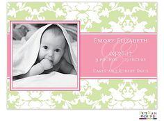 PutnamHouse Girl Photo Birth Announcement
