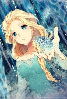 Reine Elsa - Manga & Anime Peintures par Roslee <3 <3