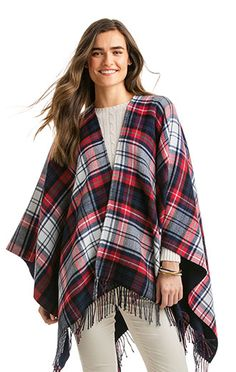 Shop our new Womens's Wool Plaid Cape.