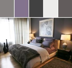 Resultado de imagem para amethyst gray bedroom