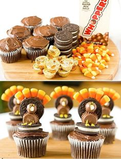 turkey thanksgiving cupcakes |  #cupcakes #Thanksgiving #Turkey