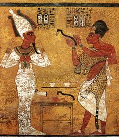 King Tut. The one pictured here with Tut also buried Tut in his own burial tomb, and took Tut's throne as well as his tomb.
