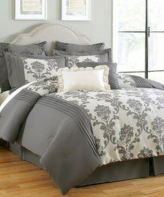 Another great find on #zulily! Gray Daniella Eight-Piece Comforter Set #zulilyfinds