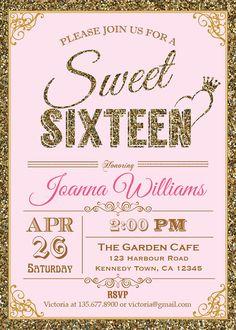 19 Best Sweet 16 Images Sweet Fifteen Sweet 16 Invitations Ideas