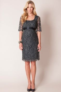 Accessories for grey lace dress